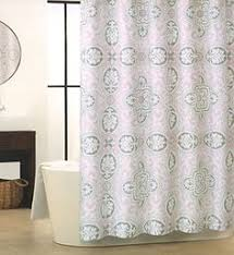 modern grey shower curtain. Tahari Home Fabric Shower Curtain Scroll Medallion Moroccan Tiles In Taupe, Gray, White And Light Pink Colors Modern Grey \