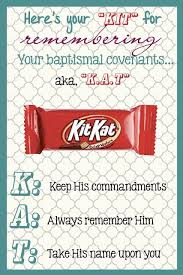 kit for remembering baptismal enants kat keep his mandments always remember him take his name upon you