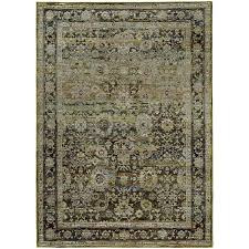 green and brown area rugs oriental weavers andorra 7125c green brown area rug rugcom