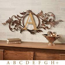 decor large metal letters for wall decor the best monogram metal wall decor large letter decoration