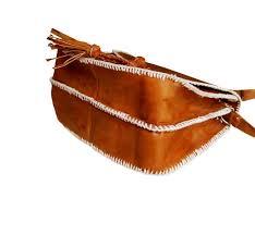 brown leather shoulder bag for women