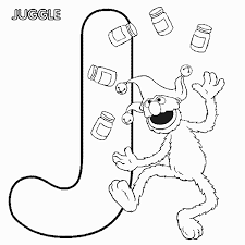 Small Picture ABC letter J Juggle Sesame Street Grover coloring page Letter J