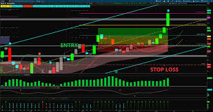 Image Of Dnkn Stock Trading Journal Chart With Target Hit