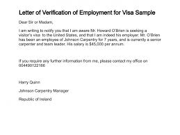 Sample Employment Verification Letter For Visitor Visa Letters Font