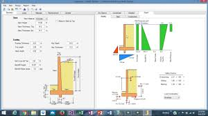 Retaining Wall Structural Design Example Cantilever Retaining Wall Design Example Using Asdip Retain