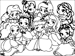 Baby Disney Princess Coloring Pages Lovely Babies Princesses 2063115