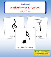 Musical Notes And Symbols 3 Part Cards