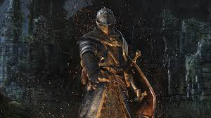 knight iluminated by bonfire wallpaper from dark souls remastered