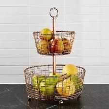 fruit baskets bowls tiered steel