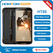 <b>HOMTOM HT80 IP68</b> Waterproof Smartphone 4G LTE Android 10 ...