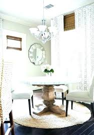 what size rug for dining room what size rug for dining table round rugs room awesome
