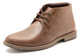 red tape bexton brown leather lace up chukka