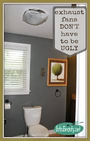 karin of the blog art is beauty replaced her bathroom exhaust fan with an exhaust fan light combo from broan