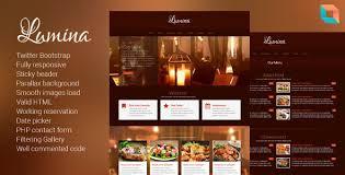 Restaurant Website Templates Interesting Lumina Responsive Restaurant Website Template By Liontheme