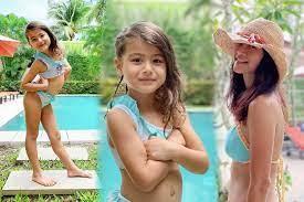 """น้องทาเรีย"""" ลูกสาว """"น้ำฝน กุลณัฐ"""" โพสท่าจัดเต็มในชุดว่ายน้ำ ปังกว่าแม่อีก!  - โพสต์ทูเดย์ ข่าวบันเทิง"""