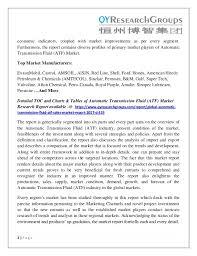 Automatic Transmission Fluid Atf Market Analysis Size