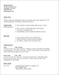 Culinary Resume Stunning Sample Of Chef Resume Culinary Resume Samples Chef Resume Pattern