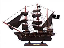 wooden fearless black sails pirate ship model 15