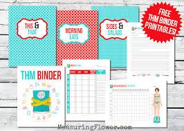 Free Trim Healthy Mama Binder Printables Measuring Flower