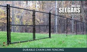 Image Galvanized Seegars Fence Company Residential Chain Link Fence Installations Repairs Seegars Fence