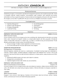Resume Sample Summary Professional Emergency Communications Specialist Templates to 55