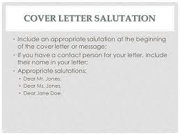 download cover letter salutation