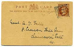 Почтовая карточка Википедия Односторонняя почтовая карточка с оригинальной маркой календарным квадратно круглым штемпелем и надписью Адрес писать только на этой стороне англ