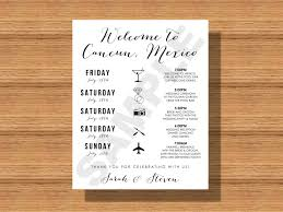 Wedding Itinerary Destination Wedding Weekend Itinerary Wedding Schedule Of 6