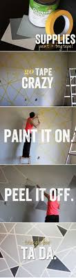 Wall Patterns With Tape Best 25 Painters Tape Design Ideas On Pinterest Wall Paint