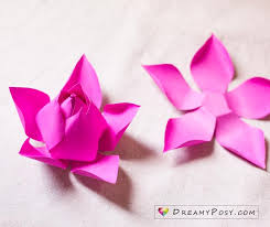 How To Make A Lotus Flower Out Of Paper Flower Making With Paper Free Template And Step By Step