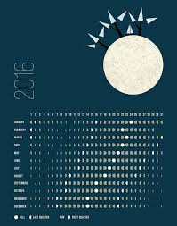 Full Moon Chart 2016 Moon Phases Calendar For 2016 Northern Hemisphere The