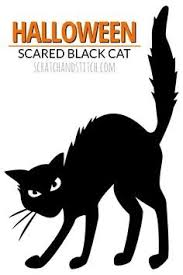 Halloween Black Cat Outline | Free Design Templates