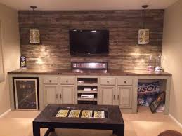 basement ideas for teenagers. basement / reused old kitchen cabinets to add storage for our game room. did butcher block on top. we a reclaimed wood wall, added license plate wall ideas teenagers o