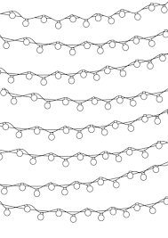 Christmas Light Coloring Page Christmas Lights Pattern Coloring Page