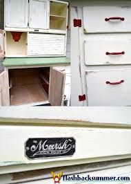 Hoosier Kitchen Cabinet A Hoosier Cabinet Makeover Flashback Summer
