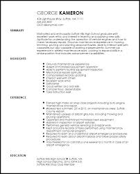 Free Entry Level Maintenance Technician Resume Template Resumenow