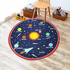 kids round rug solar system learning area rug childrens round kids rug