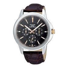 pulsar men s multi dial brown leather strap watch h samuel pulsar men s multi dial brown leather strap watch product number 9813853