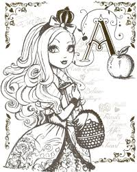 Awesome Beautiful Princess Ever After High Printable Coloring Sheets