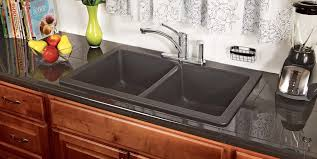 Black Granite Countertops With Tile Backsplash Delectable Kitchen Black Granite Bullnose Tile Laminate Countertops And