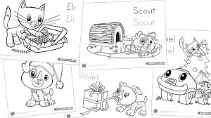 Scout Friends Winter Coloring Pack