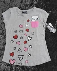Details About Valentines Day Snoopy Pocket Youth Girls T Shirt Size Small Large Or Xlarge