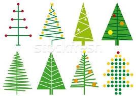 Simple Christmas Tree Designs Vector Vector Illustration