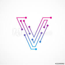 Letter V Templates Abstract Letter V Logo Design Template Technology Electronics