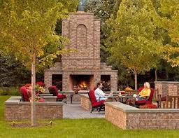 outdoor brick fireplace ideas