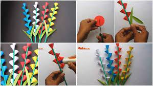 beautiful paper flower stick for room