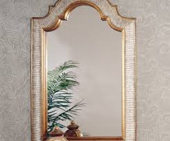 arched wall mirror brass