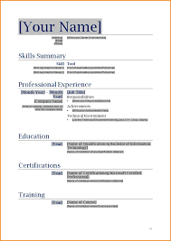 How To Make A Good Resume On Word Word Doc Resume Template Best Resume Template Word Download 8