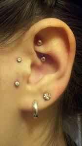Me Rook Vertical Tragus Double Lobes Body Mods And Piercings In