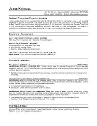 Pediatric nurse resume to inspire you how to create a good resume 2